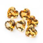 4.30 Cts of 6 mm AA Heart Citrine ( 6 pcs ) Loose Gemstones