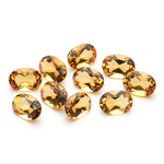 6.82 Cts of 7x5 mm AA Oval Citrine ( 10 pcs ) Loose Gemstones