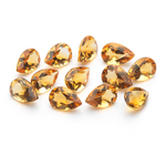 4.11 Cts of 6x4 mm AA Pear Citrine ( 12 pcs ) Loose Gemstones