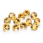 5.22 Cts of 5 mm AA Round Citrine ( 12 pcs ) Loose Gemstones
