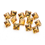 4.17 Cts of 4 mm AA Square Citrine ( 13 pcs ) Loose Gemstones