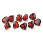5.60 Cts of 5 mm AAA Heart Mozambique Garnet 10 pcs Loose Gemstones