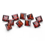 4.63 Cts 4 mm AAA Princess Mozambique Garnet 10 pcs Loose Gemstones