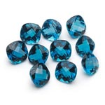 6 mm-12.23 Cts Loose London Blue Topazes Cushion-AAA