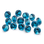 5 mm-7.80 Cts Loose London Blue Topazes Round-AA
