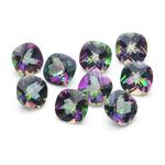 14.82 Cts of 7 mm AA Cushion Mystic Green Topaz 9 pcs Loose Gemstones