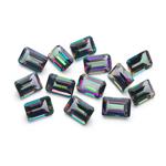 9.11 Cts of 6x4 mm AA Emerald-cut Mystic Green Topaz 13 pcs Loose Gemstones