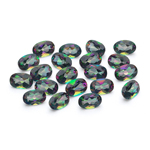 11.23 Cts of 6x4 mm AA Oval Mystic Green Topaz ( 20 pcs ) Loose Gemstones