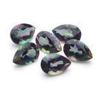 9x6 mm-9.27 Cts Pear AA Mystic Green Topaz 6 pcs Loose Gemstones