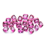13.19 Cts of 5 mm AA Cushion Mystic Pink Topaz ( 20 pcs ) Loose Gemstones