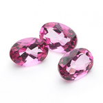 2.90 Cts of 7x5 mm AA Oval Mystic Pink Topaz ( 3 pcs ) Loose Gemstones