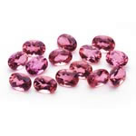 7x5 mm-11.20 Cts Loose Pink Tourmalines Oval-AA