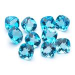 7 mm-17.07 Cts Cushion-AA Swiss Blue Topaz 10 pcs Loose Gemstones
