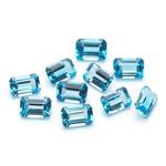 6x4 mm-7.00 Cts Emerald-AAA Swiss Blue Topaz 10 pcs Loose Gemstones