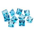 7 mm-21.29 Ct Princess-AA Swiss Blue Topaz 10 pcs Loose Gemstones