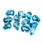 7x5 mm-9.20 Cts Pear Swiss Blue Topaz- AA 12 pcs Loose Gemstones