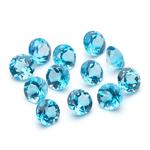 7.29 Cts of 5 mm AA Round Swiss Blue Topaz ( 12 pcs ) Loose Gemstones