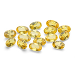 5x3 mm-5.26 Cts Loose Yellow Sapphires Oval-AA