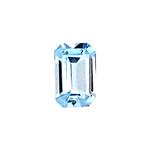 0.47-0.57 Cts of 6.0x4.0 mm AA Emerald Cut Sky Blue Topaz ( 1 pc ) Loose Gemstone