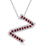 Ruby Initial Z Pendant