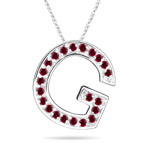 Ruby Initial G Pendant