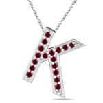 Ruby Initial K Pendant