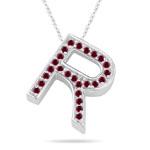 Ruby Initial R Pendant