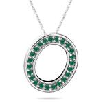 Natural Emerald Initial  O Pendant