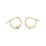 Youth Heart Hoop Click Earrings in 14K Yellow Gold