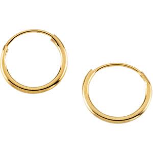 Youth Hoop Earrings in 14K Yellow Gold