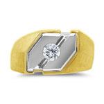 0.15 CT MEN'S DIAMOND TWO TONE RING