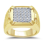 1.00  CT PAVE ROLEX TWO TONE  MENS RING