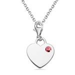 0.10 Cts Pink Tourmaline Multi-Purpose Heart Charm Pendant in Silver