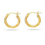Paisley Small Hoop Earrings in 14K Yellow Gold