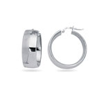 Fancy Hoop Earrings in 14K White Gold