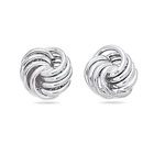 Small Multi Circle Intertwined Earrings in 14K White Gold
