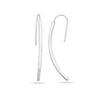 Curved Stick Earrings in 14K White Gold