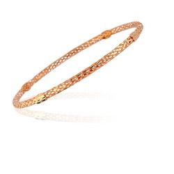Designer Bangle in 14K Pink Gold