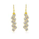 Balinese Bead Earrings in 14K Two Tone Gold