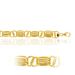 Alternate Triple Link in 14K Yellow Gold