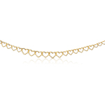 Graduated Open Heart Necklace in 14K Yellow Gold