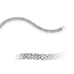 Byzantine Bracelet in 14K White Gold
