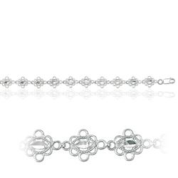 Fancy Filigree Bracelet in 14K White Gold