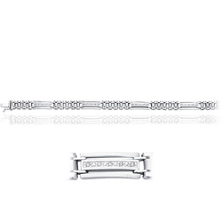 0.20 Cts Diamond Men's Bracelet in 14K White Gold