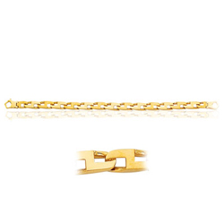 Men's Mariner Link Bracelet in 14K Yellow Gold
