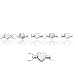 Childrens Heart Bracelet in 14K White Gold