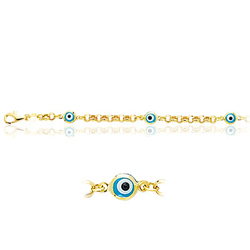 Childrens Enamel Bracelet in 14K Yellow Gold