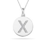 0.26 Cts Diamond Initial X Pendant