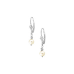 Freshwater Cultured Pearl Earrings in 14K White Gold