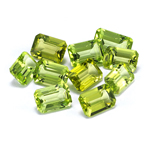 6x4 mm-4.14 Cts Peridot ( Emerald-AA )